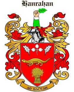 HANRAHAN family crest